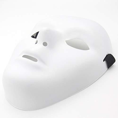 Kvvdi Scary White Blank Face Masks for Halloween DIY (Female+Male, White)