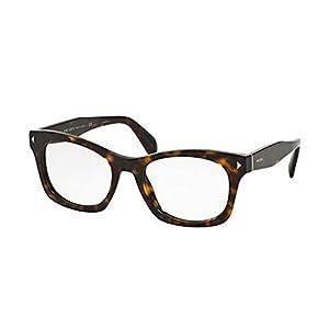 New Prada Eyeglasses Woman VPR 11S Havana 2AU-1O1 Timeless|Conceptual 51mm