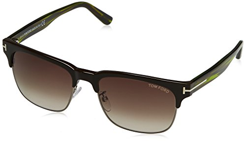 Tom Ford FT0386 48K Brown / Green Louis Clubmaster Sunglasses Lens Category 3 - Sunglasses 48k