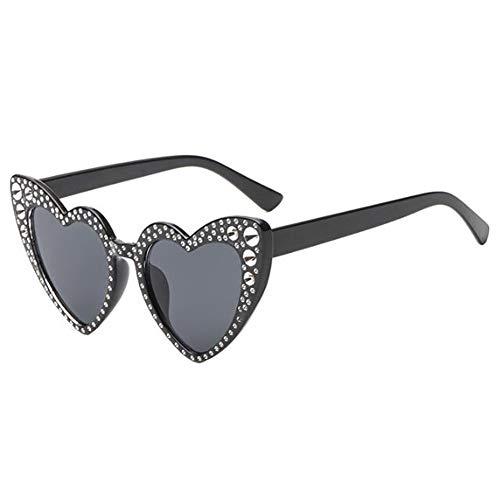 Clásico Negro1 gato Gafas Eyewear UV Estilo Proteccion de sol Ojo Salirse los corazon Deylaying Gafas Estiloso de Retro Amor Conformado Polarizado ojos FqH1ddzn