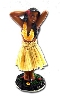 Tikimaster MINI DASHBOARD DOLL HULA GIRL POSING - HAWAIIAN GIFTS