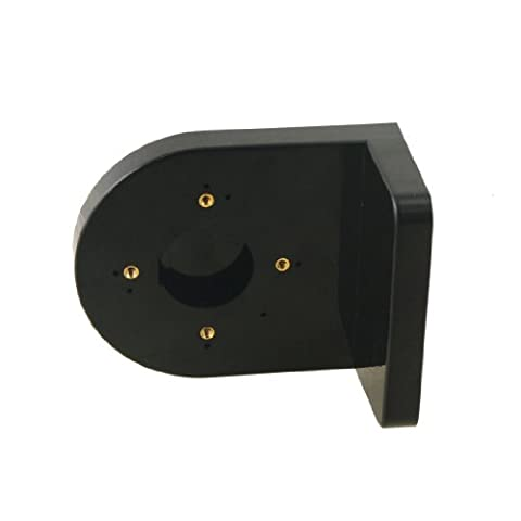 uxcell Plastic Right Angle Bracket Wall Mount Security Shelf for Dome Camera Black