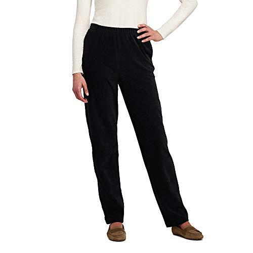 Elastic Waist Corduroy Pants - Lands' End Women's Sport Knit Corduroy Elastic Waist Pants High Rise, XS, Deep Black