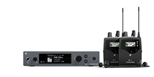 Sennheiser ew IEM G4-Twin Ear Monitor System w/ 2 Belt Packs Range A1 (470-516Mhz), Dual Beltpack