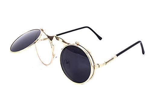 ae15f7b08 Europe style sunglasses summer Fashion steampunk round glaasses Clamshell  Eyeglasses
