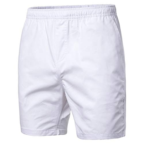 LUCAMORE Men's Board Shorts Casual Solid Beach Men Short Trouser Shorts Pants with Pockets ()