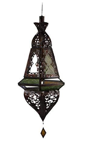 Moroccan Lamp Tall Multi-Colour Ornate Scrollwork]()