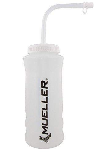 Mueller Quart Bottle w/Straw (New Design), Natural Color w/ Black Letters (Natural Color Straw)