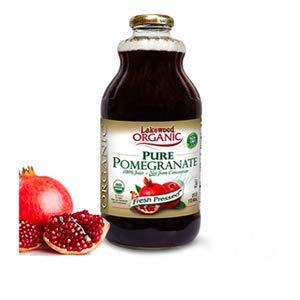 Lakewood Organic Pomegranate Juice, 32 Ounce Bottle (Fruit Juice Pack of 6)