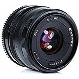 KAXINDA 35mm F/1.7 Large Aperture Manual Prime Fixed Lens APS-C for Digital Mirrorless Cameras Black (MICRO 4/3)