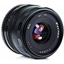 KAXINDA 35mm F/1.7 Large Aperture Manual Prime Fixed Lens APS-C for Digital Mirrorless Cameras Black (MICRO 4/3)