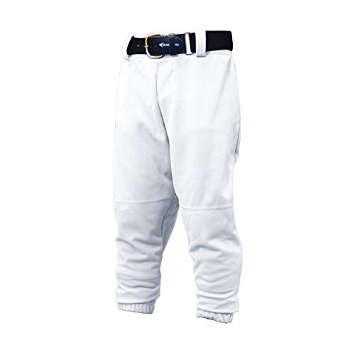 (EASTON Youth PRO PULL UP Baseball Softball Pant | 2020 | White | Youth Medium | Drawstring Waistband | Batting Glove Back Pocket | Elastic Bottom Opening | 100% Polyester)