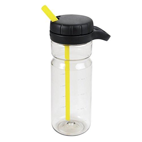 OXO Good Grips Liquiseal Twist Water Bottle, Gray/Yellow