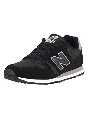 New Balance Men's 373 Suede Trainers, Black, 10 US (373 New Balance)