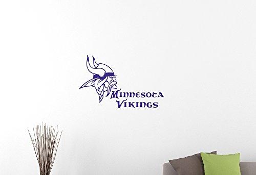"NFL Minnesota Vikings Emblem Wall Sticker American Football Team Logo Vinyl Decal Home Interior Decorations Extreme Sports Sign Art Locker Room Bedroom Office Decor 2mv (35""wide x 22""high)"