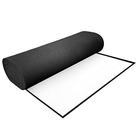High Quality Acrylic Felt by the Yard with Adhesive 36' Wide X 2 YD Long: Black The Felt Store