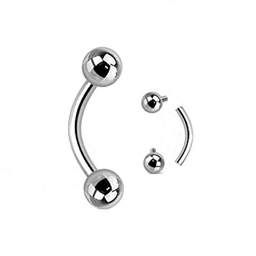 (Internally Threaded Grade 23 Solid Titanium Curved WildKlass Barbells/Eyebrow WildKlass Rings (Sold by Piece))