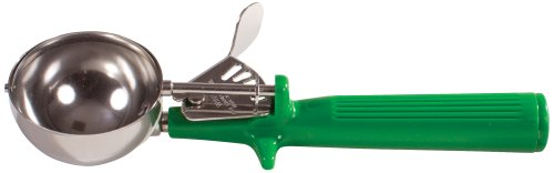 Winco Ice Cream Disher with Green Handle, Size 12