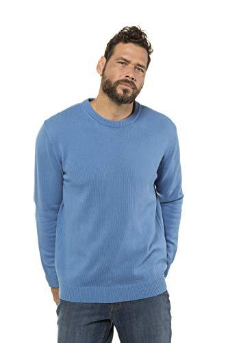 Grandes Foncé Maille Homme Tailles 708261 Fine Pull Coton Aqua Pur Jp1880 Rond Col 5w7BxqnAAT