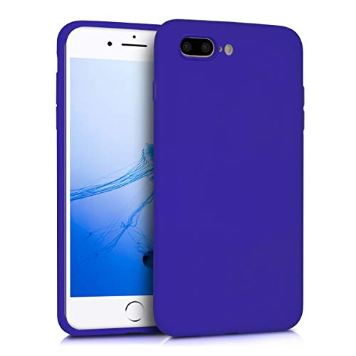 kwmobile TPU Silicone Case for Apple iPhone 7 Plus / 8 Plus - Soft Flexible Shock Absorbent Protective Phone Cover - Royal Blue