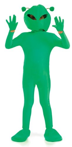 Space Girl Costume Uk (Space Alien Martian Unisex Childs Fancy Dress Costume - XL 146cms)