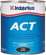 Interlux Fiberglass Bottomkote ACT with Irgarol, BLACK, 1 GALLON by Interlux