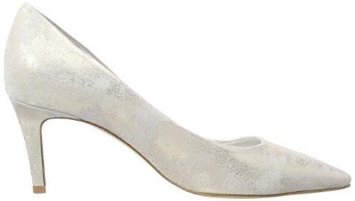 con Cerrada para Ghiaccio und Kennel de Zapatos Punta Plateado Liz Mujer Schmenger Tacón 336 xxTz8Y