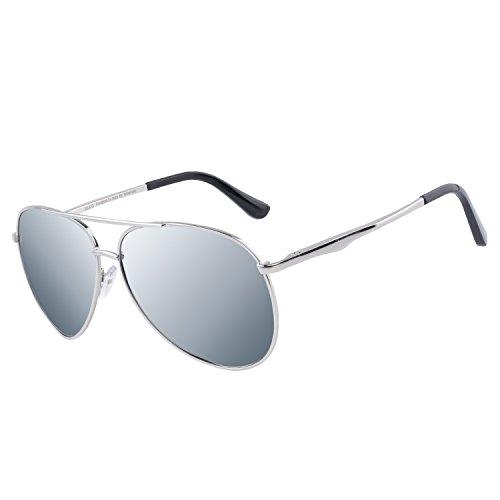 DUCO Pilot Style Polarized Sunglasses Sports Glasses Men 100% UV Protection 3025G