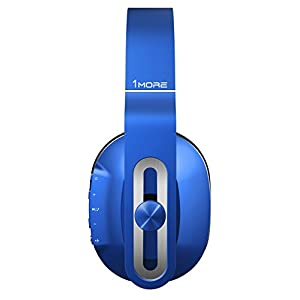 1MORE MK802 Noise Isolating Headphone with Deep Bass, Bluetooth Wireless Headphone with IOS/ Android Microphone (Blue)