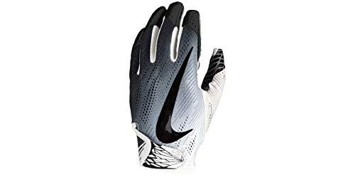 Nike Football Glove - Vapor Knit 2.0 (White/White/Black, Medium) (Vapor Nike Football Gloves)