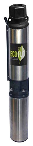 ECO-FLO Products EFSUB7-123 Submersible Deep Water Well Pump, 3 Wire, 230v, 4 Inch, 3/4 HP, 12 GPM - Myers Submersible Well Pump