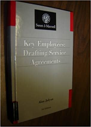 Key Employees Drafting Service Contractsagreements Practitioner