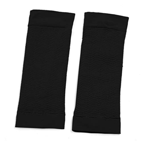 uxcell® 1 Pair Arm Shaper Weight Loss Slimming Compression Anti-Swelling Sleeves Fat Buster Off Cellulite Calories Sporting Black