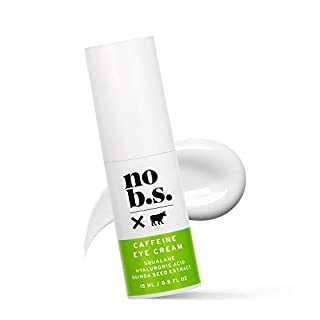 No B.S. Caffeine Eye Cream with Pure Hyaluronic Acid and Plant-Based Squalane Oil, Anti Aging Eye Cream for Dark Circles and Puffiness, Under Eye Wrinkle Cream - No B.S. Skin Care