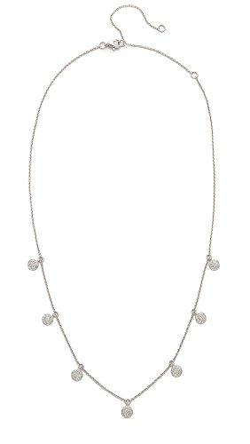 Shay Women's 18k White Gold Pave Diamond Dangle Drop Necklace, White Gold/White Diamonds, One Size ()
