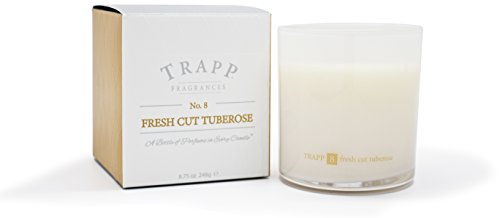 Trapp Ambiance Collection No. 8 Fresh Cut Tuberose Poured Scented Candle, 8.75-Ounces (Candle Tuberose Scented)