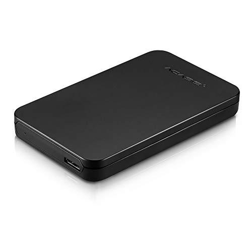 SATA Hard Drive Enclosure, KYW USB 3.0 HDD SATA External Hard Drive Disk Enclosure Case fit 9.5mm 7mm 2.5 Inch SATA HDD and SSD-Tool Free(FA-07US)