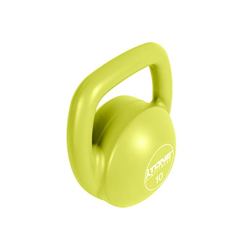 Tone Fitness Vinyl Kettlebell, Lime, 10-Pound by Tone Fitness (Image #2)