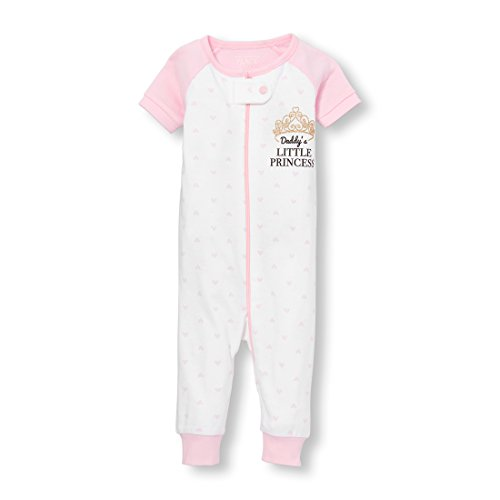 The Children's Place Baby Girls Short Sleeve One-Piece Pajamas, Cameo, (Baby Infant Girl One Piece)