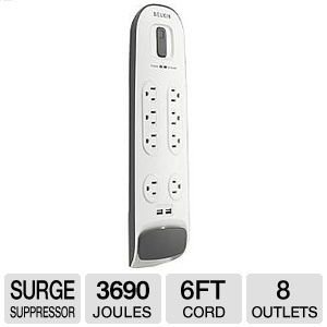 Belkin SurgePro BV108050-06 8-Outlets Surge Suppresor from Belkin Components