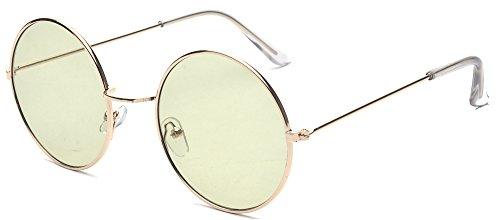 ALWAYSUV Metal Full Frame PC Round Circle Lens Retro John Lennon - Circle Lenses Color