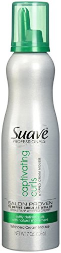 Suave Professionals Captivating Curls Whipped Cream Mousse, 7 oz