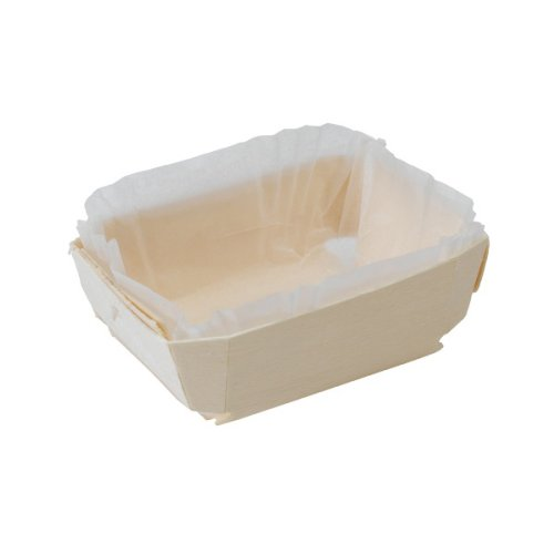 PacknWood Wooden Baking Mold, Baking Liner Included, 10 oz. Capacity (Case of 220) by PacknWood
