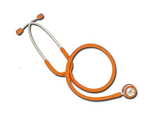 Estetoscopio Wan de doble cabeza, naranja, ligero y cromado para enfermera, estetoscopio
