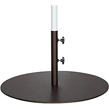 This Item Abba Patio 55 Lbs Round Steel Market Patio Umbrella Base 27.4  Inch Diameter Umbrella Stand Weights, Brown