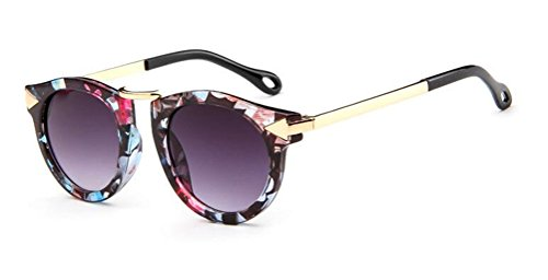 GAMT Fashion Arrow Mirrored Sunglasses Round Lens for Boys and Girls Flower (Sunglasses Flower)