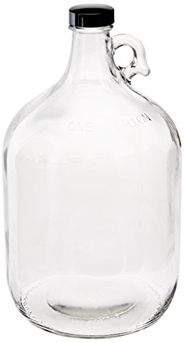 Home Brew Ohio Glass Water Bottle Includes 38 mm Polyseal Cap, 1 gallon (Large Glass Jug)