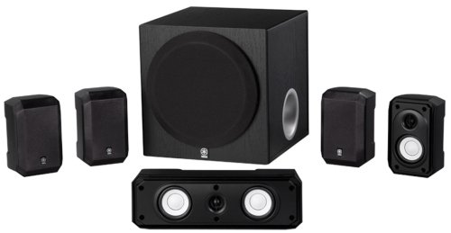 Electronics Tower Wall Entertainment Center (Yamaha NS-SP1800BL 5.1-Channel Home Theater Speaker System)
