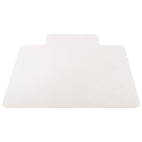 Deflecto EconoMat Clear Chair Mat, Hard Floor Use, Rectangle With Lip, Straight Edge, 45