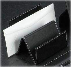 Bey Berk Leather Letter Rack Black by Bey-Berk International Inc
